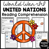 World War 2 II The United Nations Reading Comprehension Worksheet, Overview