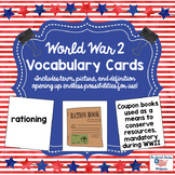 World War 2 Vocabulary Cards