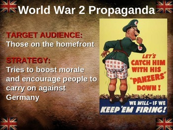 World War 2 (WWII) propaganda: 10 examples from 5 different nations (50 total)