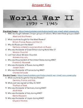 World War 2 Webquest