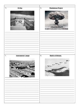 World War 2: Who's Who and What's What Assignment