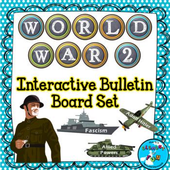 World War 2 (World War II) Bulletin Board Set - Interactive!