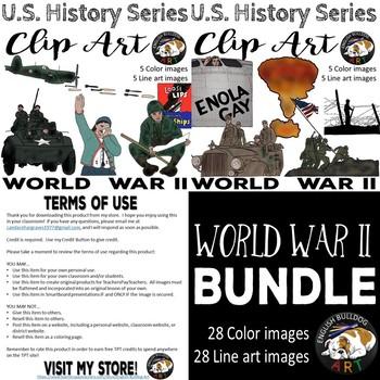 World War 2 World War II Clip Art Bundle