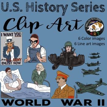 World War 2 World War II Clip Art Set 2