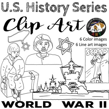 World War 2 World War II Clip Art Set 3