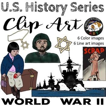 World War 2 World War II Clip Art Set 3