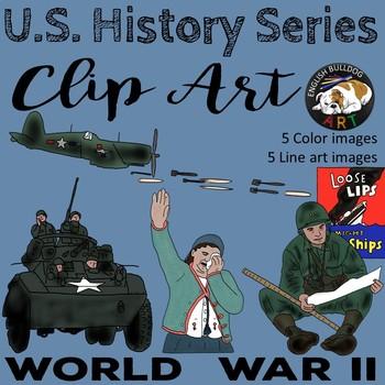 World War 2 World War II Clip Art Set 4