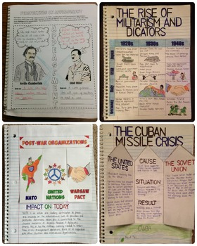World War 2 and the Cold War Interactive Notebook by ...