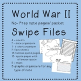 World War 2 swipe files