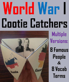 World War 1 Activity (WWI Cootie Catcher Foldable Review Game)
