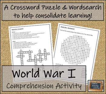 World War I - 3rd & 4th Grade Close Reading Activity