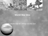 World War I 40 Slide Powerpoint --Intro to War/Anti-War Novels