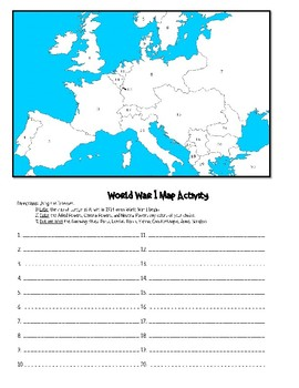 World War I: Activity Packet