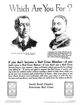World War I Propaganda: Red Cross Ads