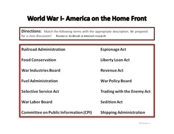 World War  I -  America on the Home Front
