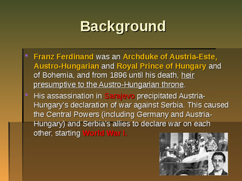 World War I - Assassination of Archduke Franz Ferdinand