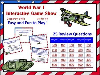 World War I Assessment Activities
