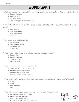 World War I Assessment {GA Milestone Constructed Response Included}