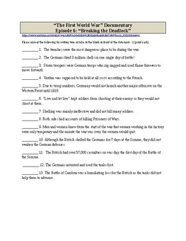 World War I BBC Movie Guide - Ep 6 Breaking the Deadlock - Western Front 1915-17