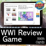 World War I BOOM CARDS for US History STAAR EOC Test Review