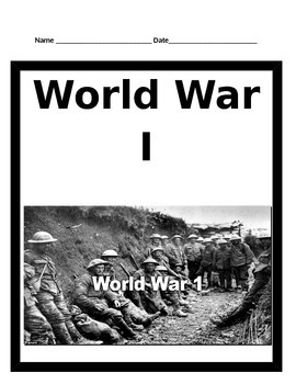 World War I BUNDLE - 5th Social Studies