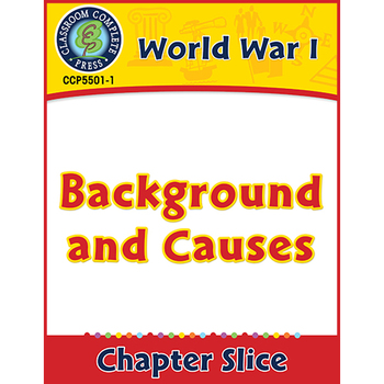 World War 1: Background and Causes Gr. 5-8