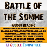 World War I - Battle of the Somme Reading!