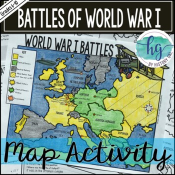 World War I Battles Map Activity