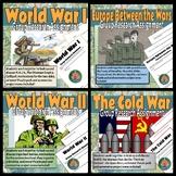 World War I, Between the Wars, World War II, The Cold War Research BUNDLE