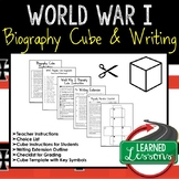 World War I Activity Biography Cubes (American and World History)