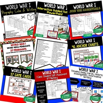 World War I BUNDLE (American History Bundle)