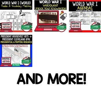 World War I BUNDLE (American History Bundle)