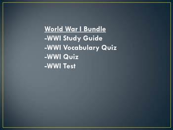 World War I Bundle