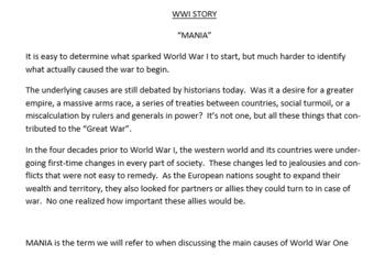 World War I Causes - MANIA