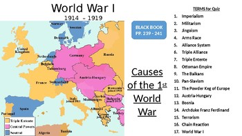 World War I LESSON BUNDLE: Causes of the Great War