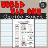 World War I Choice Board 5th grade SSH52