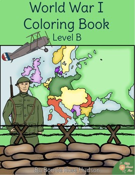 World War I Coloring Book-Level B