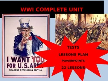 High School World War I - Complete Unit
