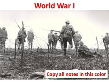 The Complete World War I PowerPoint Unit