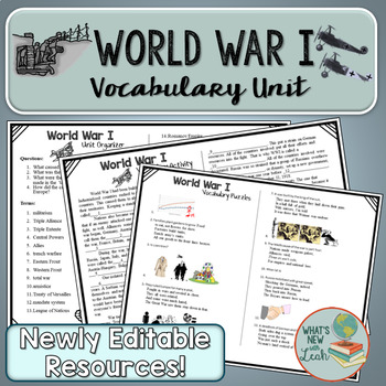World War I Complete Vocabulary Unit