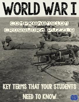 World War I Comprehension Crossword