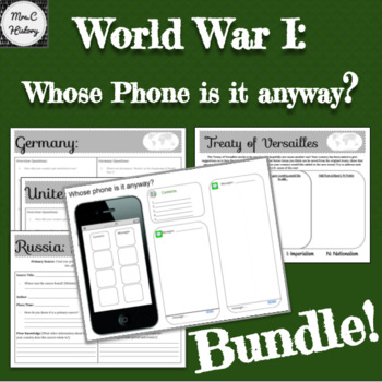 World War I: Bundle! Course of War, Treaty and Project