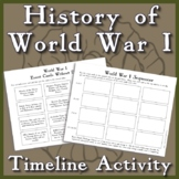World War I Creative Cut-and-Paste Timeline Activity (World War 1)