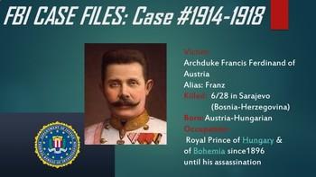 World War I Criminal Minds Investigation Themed Lesson
