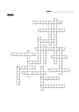 World War I Crossword