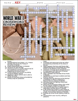 World War I Crossword Puzzle Review (WWI)