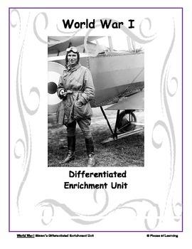 World War I - Differentiated Blooms Enrichment Unit