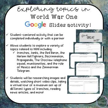 World War I Digital Activity | Google Slides