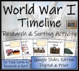 World War I Digital Timeline Research and Sorting Activity Digital & Print