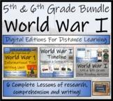 World War I Timeline & Activity Bundle Digital & Print   5th Grade & 6th Grade